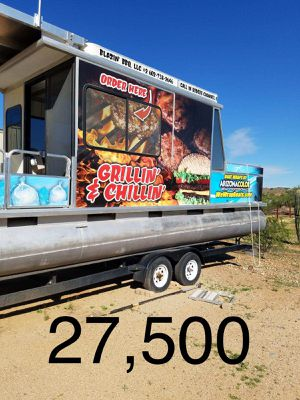 2004 34ft pontoon food boat for Sale in Phoenix, AZ