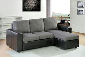 Black/Grey Sectional Sofa 2 pc/set for Sale in Hayward, CA
