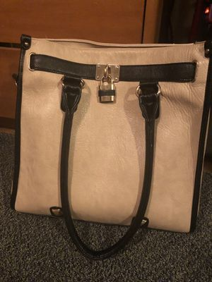 Large tan and black purse for Sale in Silver Spring, MD