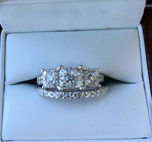 1.25Ctw ENGAGEMENT RING SET 14K WHITE GOLD for Sale in San Diego, CA