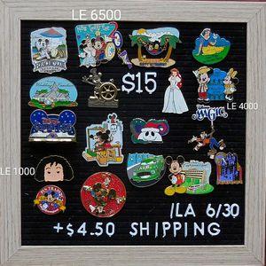 Disney Pins $15 Each for Sale in Hanson, MA