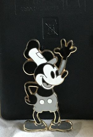 Disney Parks Mickey Mouse Steamboat Willie Classic Black & White Pin for Sale in Houston, TX