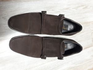 Men Brown To boot Double Monk Dress shoes Size 8 1/2 for Sale in Queens, NY