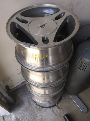 Mustang rims 5 lug 15inch rims for Sale in Elmhurst, IL