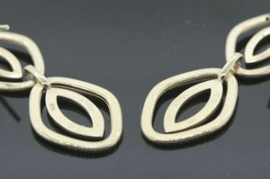 Women's 14k Yellow Gold Unique Earrings 4.6 G MADE IN ITALY STUNNING!!! #30629 for Sale in Lawrence, NY