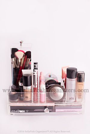 Vanity Tray / Organizer 3 pieces .... acrylic organizer for makeup for Sale in Irving, TX