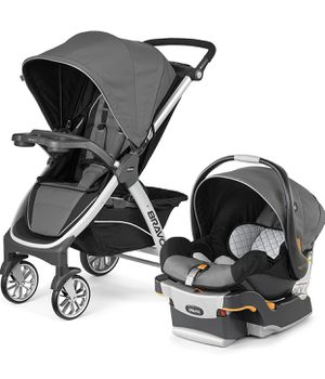 Chicco Bravo Trio Travel System, Orion (stroller+car seat and base) for Sale in Las Vegas, NV