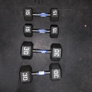 Pair Of 15lbs And 30lbs Dumbbells Brand New for Sale in Los Angeles, CA