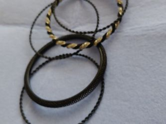 Black And Silver Bangles for Sale in Los Angeles,  CA
