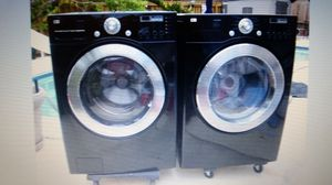LG BLACK WASHER AND ELECTRIC DRYER SUPERCAPACITY for Sale in Hialeah, FL