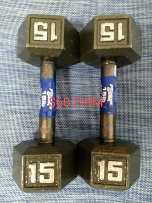 15 Pound Hex Dumbbells for Sale in Yucaipa, CA