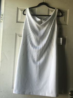 GORGEOUS!! CALVIN KLEIN white pencil dress Size:16 for Sale in Hayward, CA