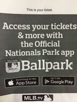 Nationals baseball game ticket (presidential club) for Sale in Vienna, VA