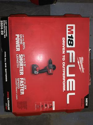 Milwaukee M18 Fuel Hammer Drill Kit for Sale in Philadelphia, PA