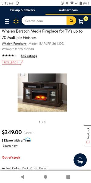 Whalen Barston Media Fireplace for Sale in Grove City, OH