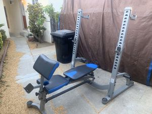 Olympic weight bench with squat rack NAUTILUS BRAND for Sale in Fullerton, CA