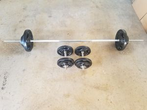 Barbell and weights and dumbbells for Sale in Phoenix, AZ