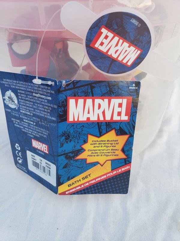 Marvel avengers bath play set $10