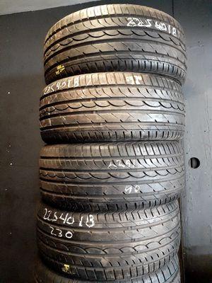 SET DE LLANTAS 225. 40R18. MARCA LINCON INSTALACION Y BALANCE POR $ 225 LAS 4 for Sale in Bellflower, CA