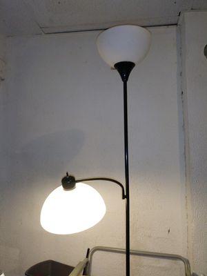Black floor lamp 2 lights for Sale in Columbus, OH