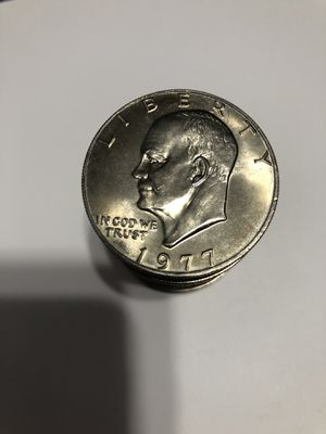 1977 Eisenhower dollar coins uncirculated roll of 20 for Sale in Felton, DE