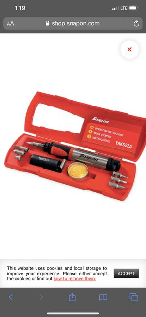 Snap-on soldering iron for Sale in Fontana, CA