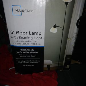6' Floor Lamp With Reading Light for Sale in Wichita, KS