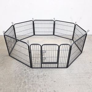 "(NEW) $70 Heavy Duty 24"" Tall x 32"" Wide x 8-Panel Pet Playpen Dog Crate Kennel Exercise Cage Fence Play Pen for Sale in El Monte, CA"