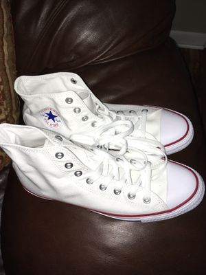 White converse size 10 (men) 12(women) xposted price is firm for Sale in Nashville, TN