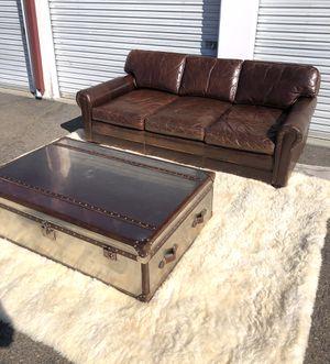 Restoration Hardware 8' Lancaster sofa & Mayfair aluminum coffee table for Sale in San Diego, CA