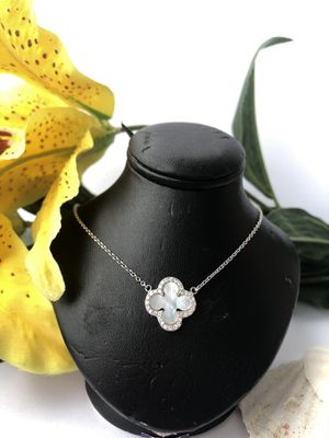 Sterling silver 925 tested chain necklace with pendant mother of pearl for Sale in Sudley Springs, VA