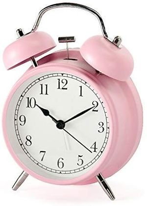 Quartz pink 3inch bell clock for Sale in San Diego, CA