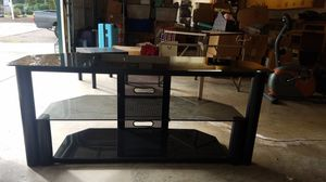 Black & Glass TV Stand for Sale in Graham, WA