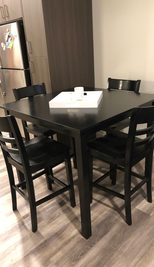 Tall black kitchen table for Sale in Beaverton, OR