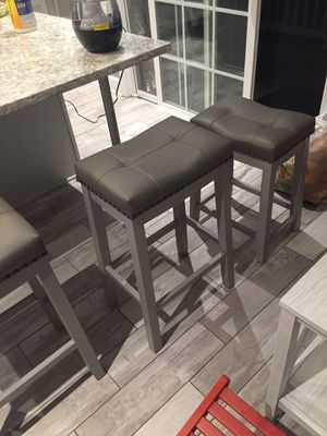 Beautiful kitchen contemporary bar stools and small cute kitchen breakfast table with contemporary chairs for Sale in Springfield, VA