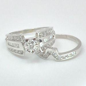 14K White Gold Diamond Engagement Ring Set (.75 cttw) for Sale in Atlanta, GA