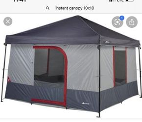 Instant canopy with connect tent for Sale in Christoval,  TX