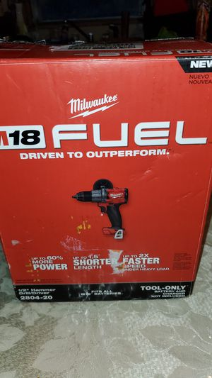 MILWAUKEE M18V FUEL BRUSHLESS 3 GENERACIÓN 1/2 HAMMERDRILL/ DRIVER for Sale in San Bernardino, CA