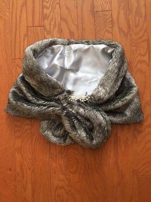 Wedding Faux Fur Shawl - grey for Sale in Rockville, MD