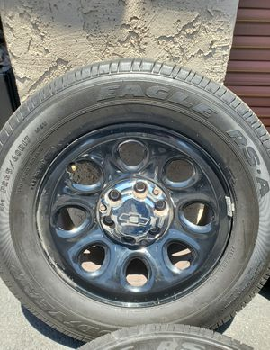 17 rims and tires for 6 lug chevy for Sale in Glendale, AZ