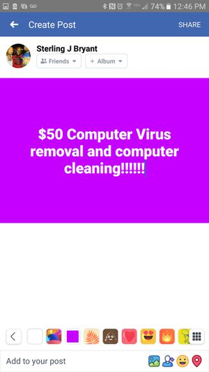 $50 Virus Removal and computer cleaning for Sale in Columbia, SC