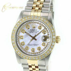 Rolex LADIES Watch Datejust 68273 White MOP Diamond Dial Diamond Bezel 31mm for Sale in Los Angeles, CA