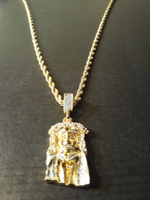 18k gold plated jesus piece for Sale in Houston, TX