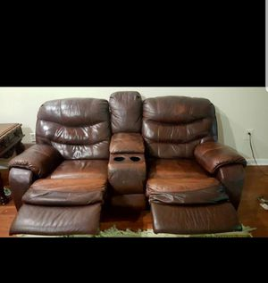 Leather recliner sofa with loveseat for Sale in Fairfax, VA