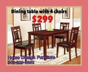 dining table with 4 chairs for Sale in Queens, NY