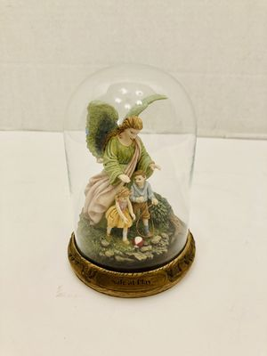 Vintage Limited Edition 1996 Bradford Exchange Someone Watching Over Me Collection Safe At Play Glass Dome Statue Figurine for Sale in Spring Hill, FL