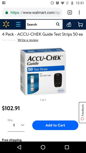Accuchek test strips for Sale in St. Louis, MO