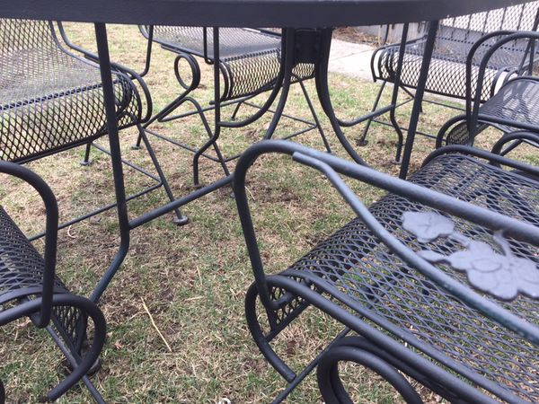 Vintage Sunbeam Wrought Iron Patio Set For Sale In Elmwood Park