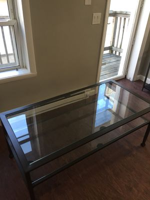 Metal/glass coffee table LIKE NEW for Sale in Baltimore, MD