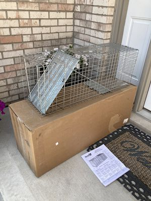 Large cage/trap- amazon $75 for Sale in Downers Grove, IL
